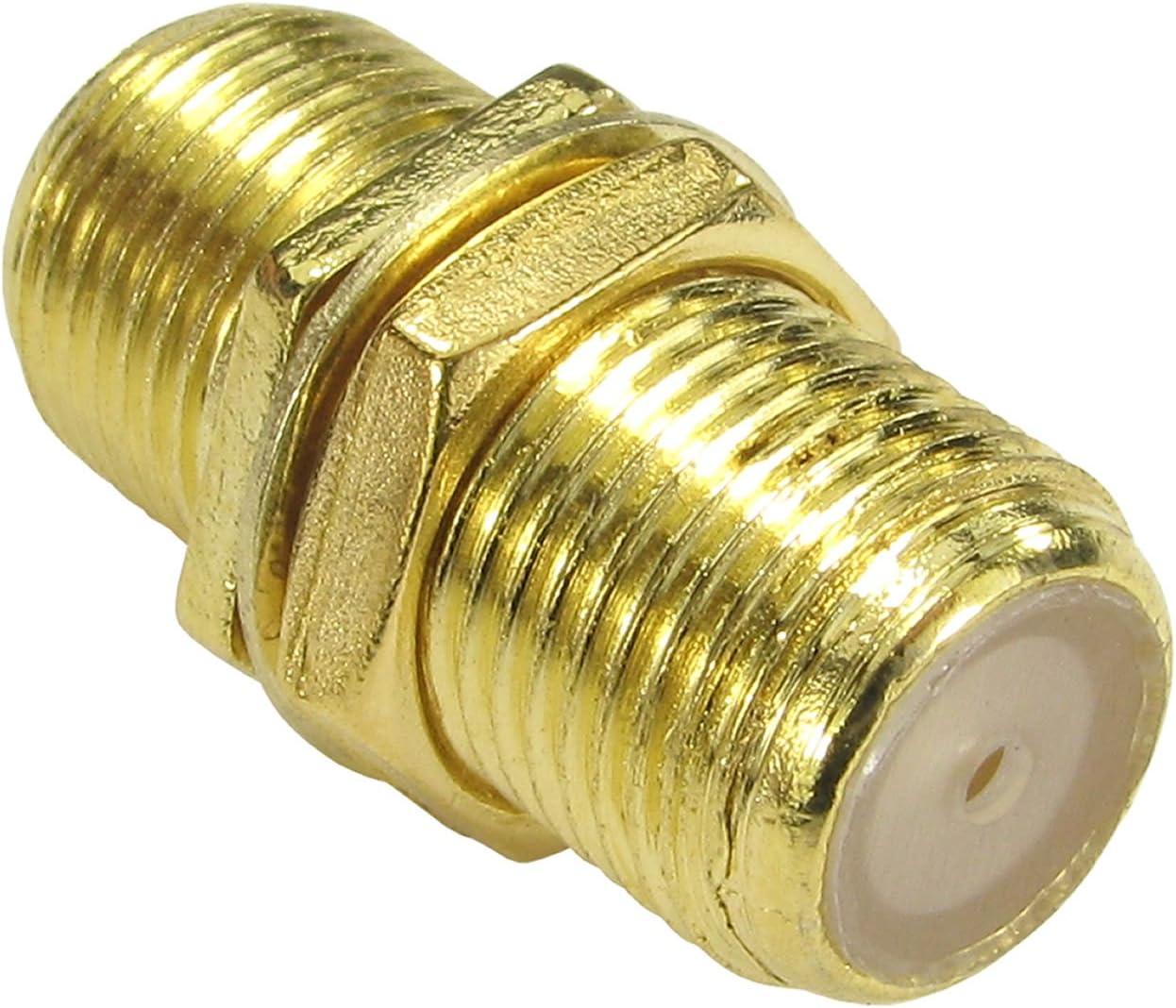 F Tipo Conector Acoplador Unir Sat ONO Cables con Tuerca Oro: Amazon.es: Electrónica