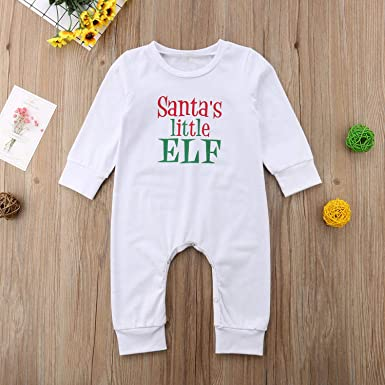 Christmas Newborn Baby Kids Girls Romper Bodysuit Jumpsuit Outfits Clothes 0-24M