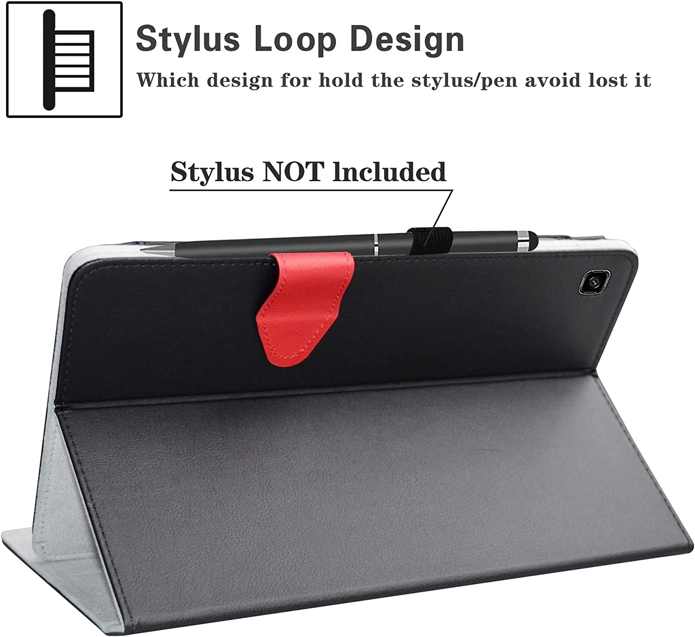 LiuShan Galaxy Tab S 10.5 Keyboard Custodia Layout Inglese Staccabile Tastiera Bluetooth Senza Fili QWERTY Custodia per Samsung Galaxy Tab S 10.5 Pollice T800 T805 Tablet,Rosso