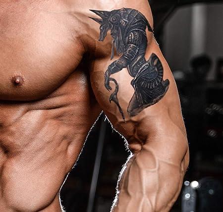 Anubis Tatuaje temporal egipcio dios de la muerte tatuaje falso ...