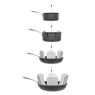 Pan and Pot Protectors - Set of 6 - Gray - 16 in. diameter. Perfect for Non Stick Pans To Avoid Scratching