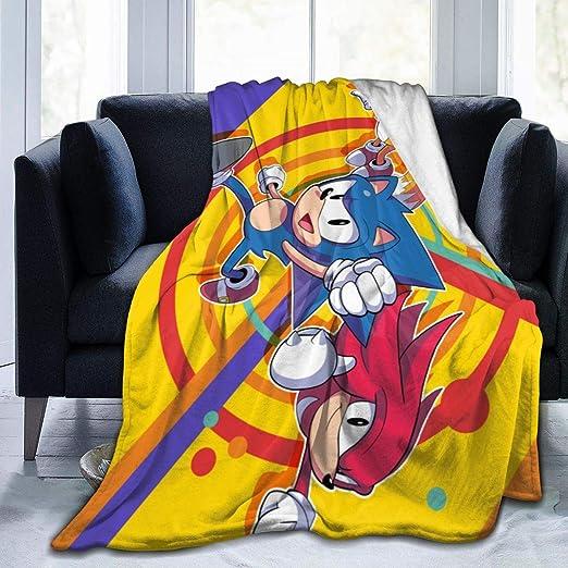 Amazon Com Sonic The Hedgehog Sonic Mania Anime Warm Soft Novelty Ultra Soft Micro Fleece Throw Blanket For Living Room Bedroom 50 X40 Home Kitchen