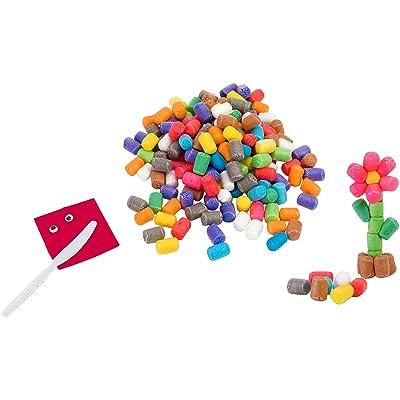 Kidea - Cubo construcciones maíz, 350 piezas (Globo 36428): Juguetes y juegos