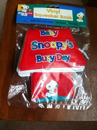 Amazon.com: Rare. Cacahuetes Snoopy bebé vinilo Squeaker ...