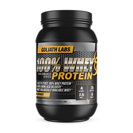100 Whey Protein Powder 20 lb by Goliath Labs Chocolate