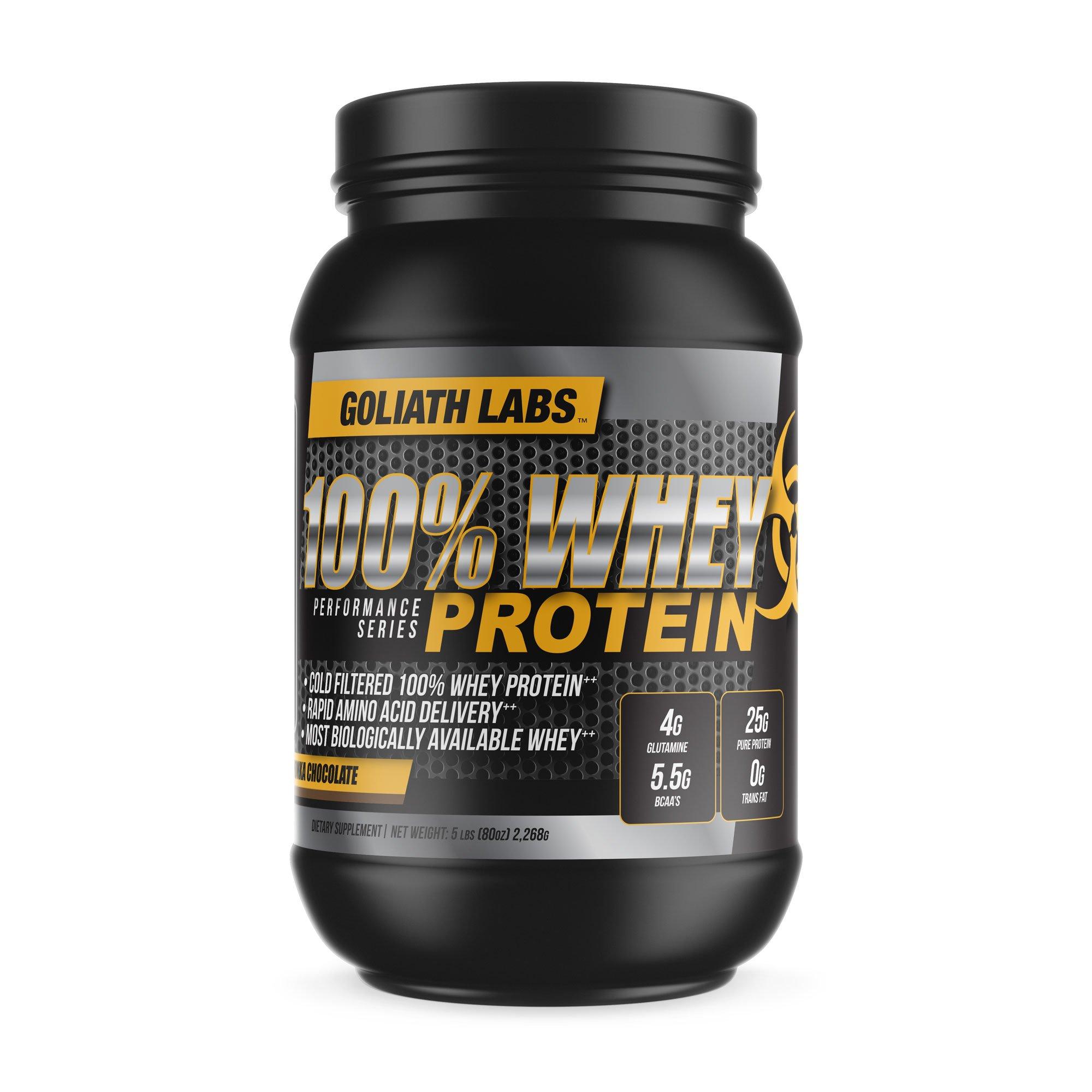 ⧫ 100% Whey Protein Powder 20 lb by Goliath Labs (Chocolate)