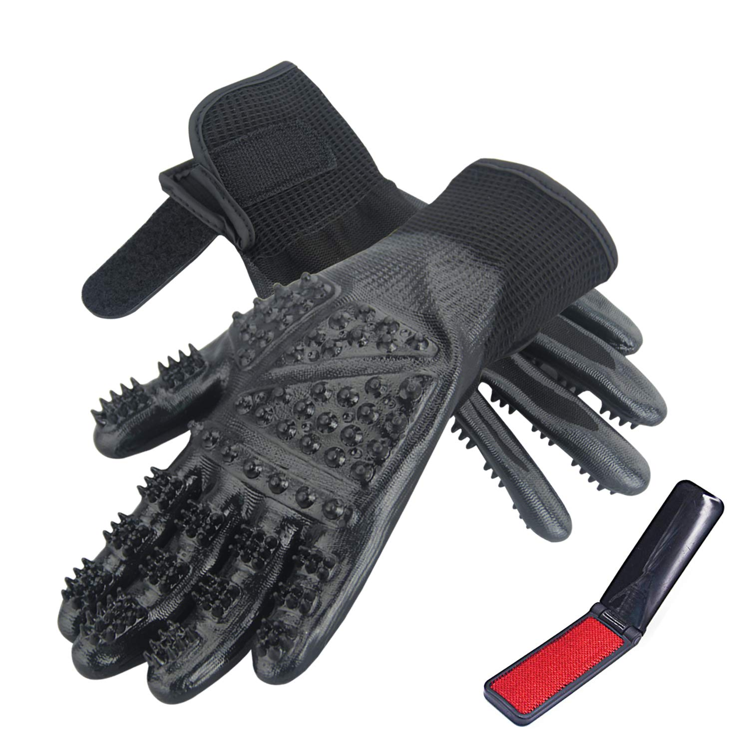 CICINY Cat Grooming Glove - Pet Grooming Glove for Cats and Dogs Horse Rabbit Hair Removal - De-Shedding Gloves for Pet Dog Cat Bathing or Massaging - Small Animal Grooming Kit Tools Supplies (Small)
