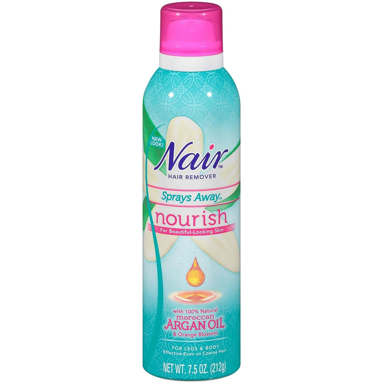 Nair Hair Remover Nourish Sprays Away Moroccan Argan Oil, 7.5 oz.