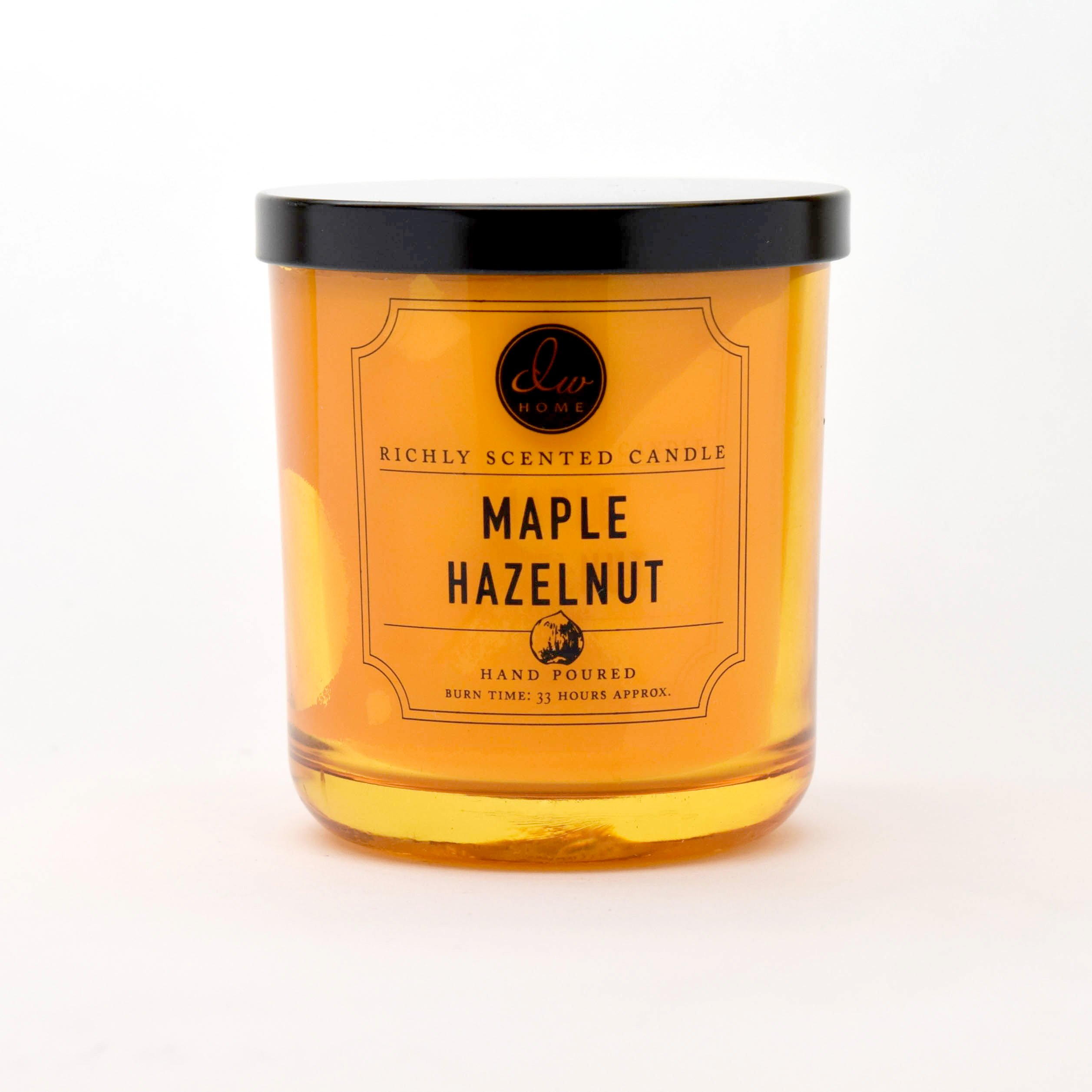 DW Home Maple Hazelnut Scented Candle 9.69 Oz In Heavy Tinted Glass Jar