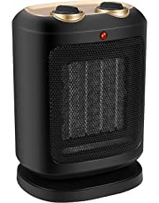 COMLIFE PTC Ceramic Space Heater, Electric Mini Personal Heater Fan