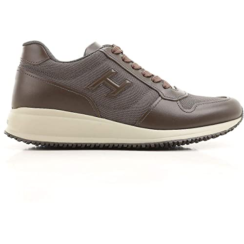 Image Unavailable. Image not available for. Colour  Hogan Men s  Hxm2460y800dmu59h3 Brown Leather Sneakers e505befa3e8