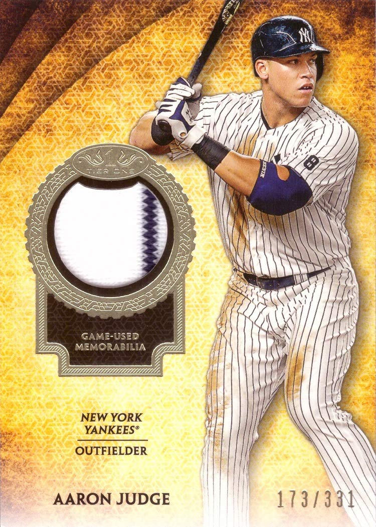 reputable site acf7e d5fab Galleon - 2017 Topps Tier One Relics #T1R-AJ Aaron Judge New ...