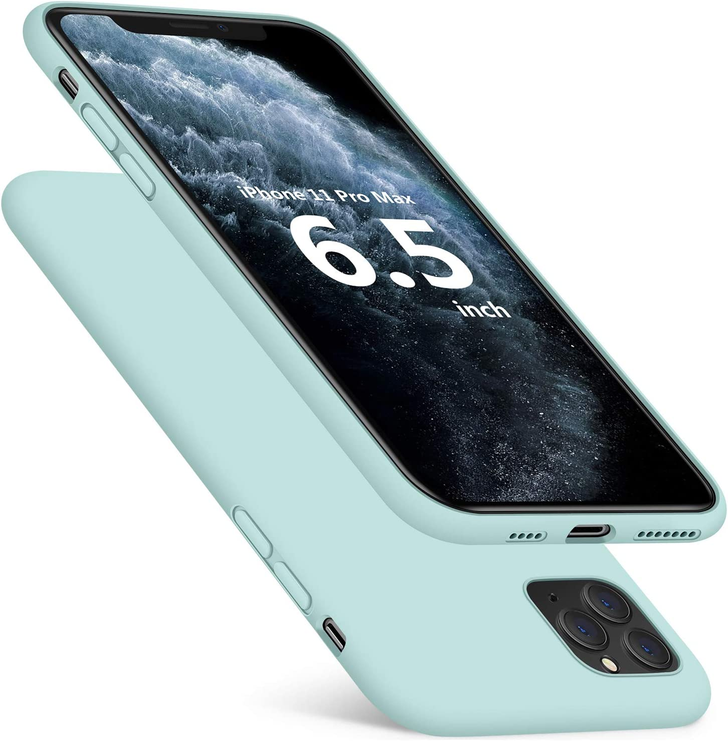 "DTTO iPhone 11 Pro Max Case, [Romance Series] Full Covered Shockproof Silicone Cover [Enhanced Camera and Screen Protection] with Honeycomb Cushion for Apple iPhone 11 Pro Max 2019 6.5"", Mint Green"