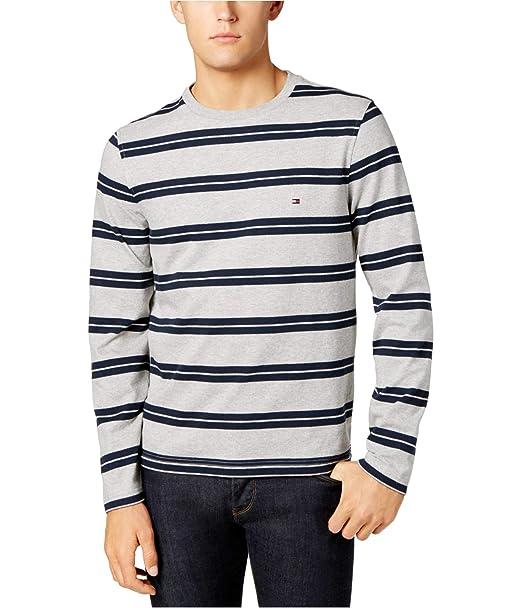 Amazon.com  Tommy Hilfiger Men s Striped Long-Sleeve T-Shirt  Clothing de9022a841d8