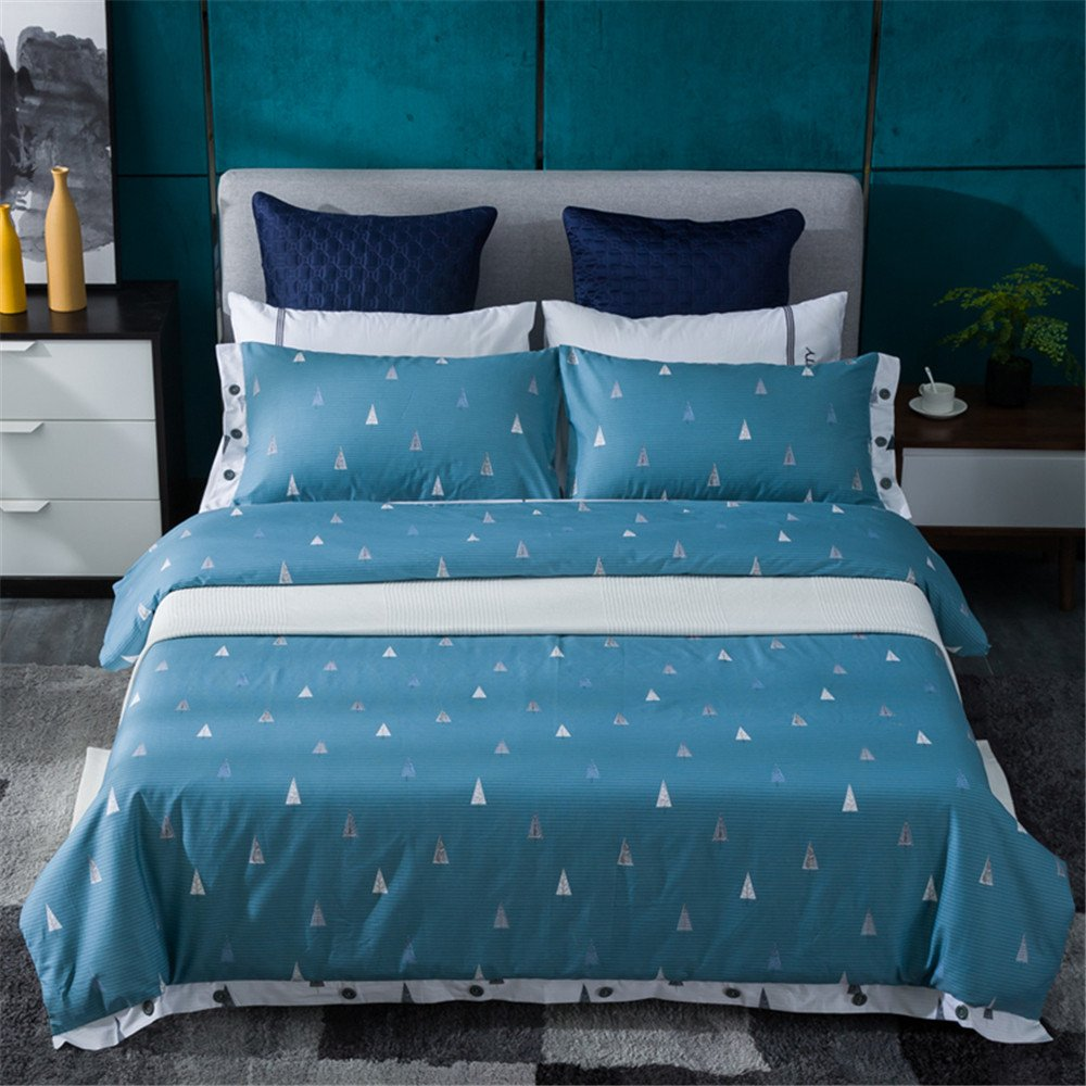Bedding Duvet Cover Sets Cotton Home Collection Decor For Adult Children Kids Boys Girls Teen Dorm 4Pcs Quilt Cover×1,Flat Sheet×1,Pillowcases×2 Wedding Thanksgiving Christmas Birthday Gift,Queen/King