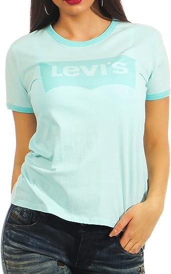 Levis Camiseta Perfect Ringer Azul Mujer M Azul: Amazon.es: Ropa y accesorios