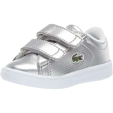 c33d64a061 Lacoste Carnaby Evo 119 6 Silver Synthetic Infant Trainers Shoes ...