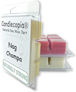 product image for Candlecopia Nag Champa, Dragon's Blood and Vanilla Sandalwood Strongly Scented Hand Poured Vegan Wax Melts, 18 Scented Wax Cubes, 9.6 Ounces in 3 x 6-Packs