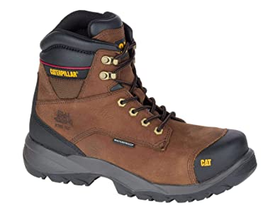 96a762113cc Caterpillar Spiro Dark Brown Boots Safety WP Leather S3: Amazon.co ...