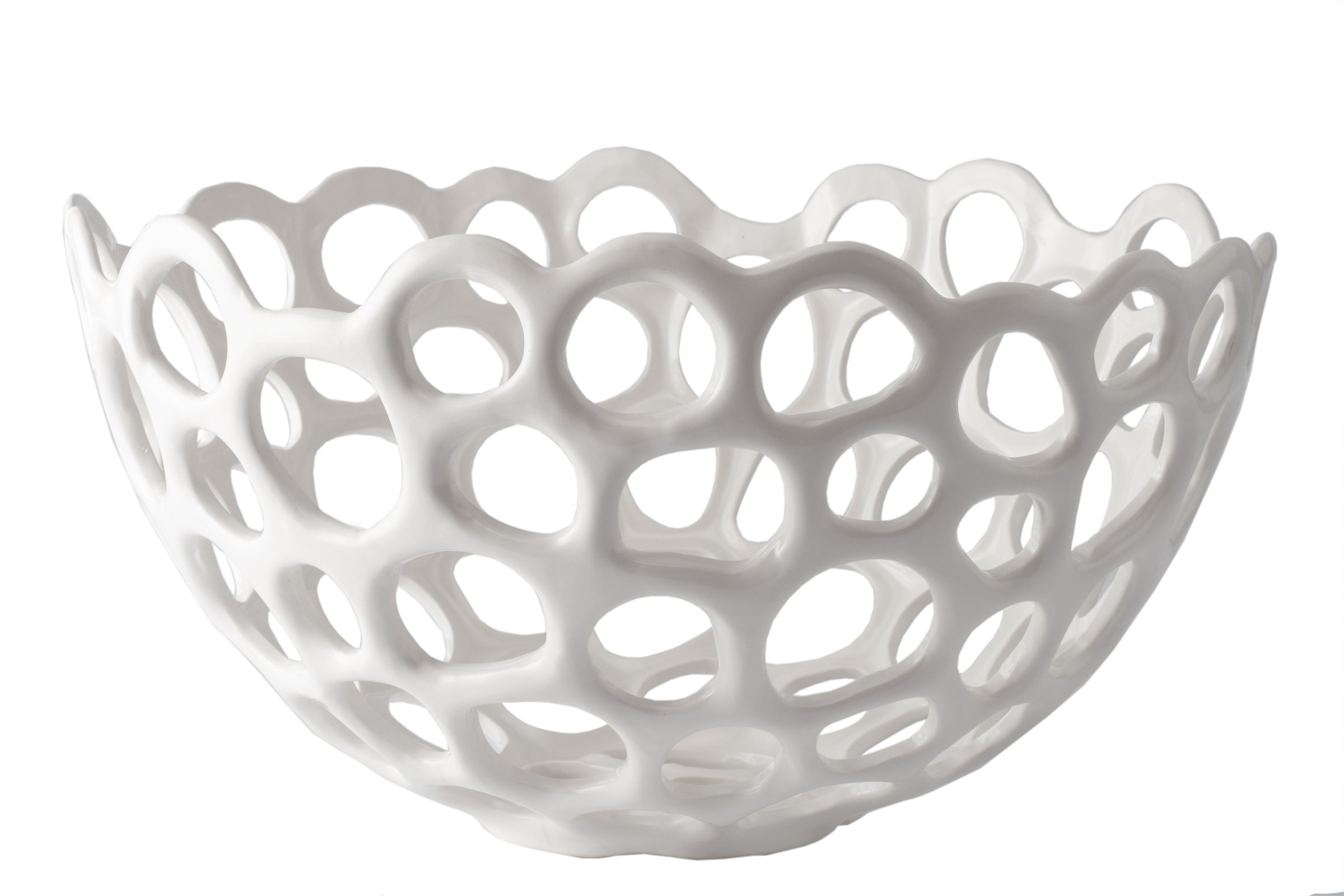 Lazy Susan Perforated Porcelain Bowl, Large