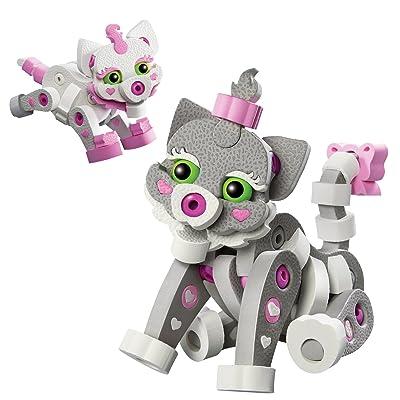 Bloco Toys Cat & Kitten | STEM Toy | DIY Building Construction Set (180 Pieces): Toys & Games
