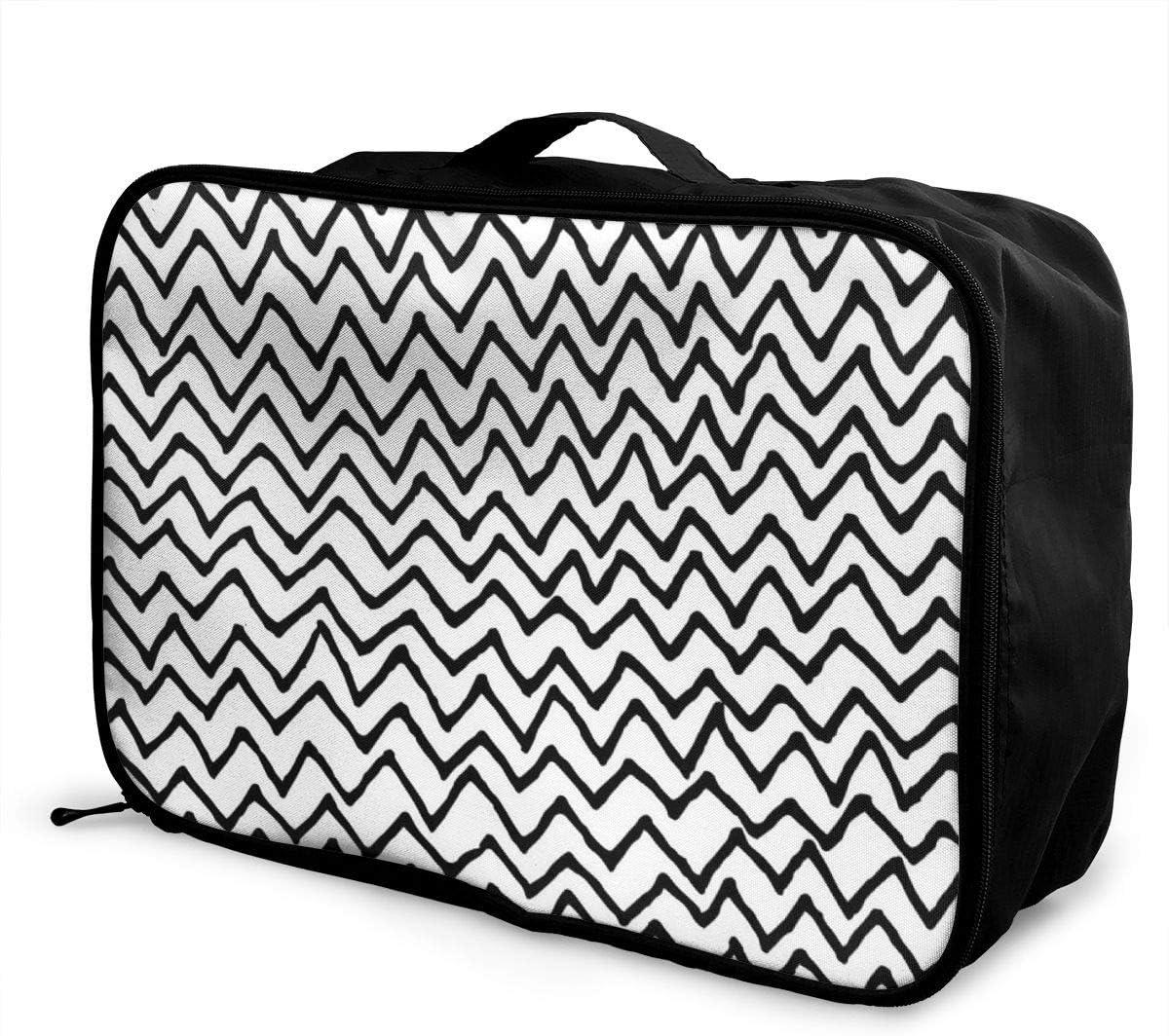 Yunshm Irregular Zigzag Pattern Customized Trolley Handbag Waterproof Unisex Large Capacity For Business Travel Storage