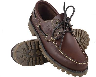 Zerimar Chaussures Bateau en Cuir | Chaussures Nautiques Homme | Mocassins Homme | Grandes Tailles 46 50