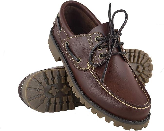 Zerimar Leder Segelschuhe Herren | Bootsschuhe Herren Leder | Segelschuhe Herren | Bootsschuh Men's Casual | Bootschuhe aus Leder