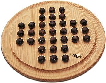 Solitario con Accesorios de Madera Juego de Mesa Bolas Habilidad fabricado en España 630: Amazon.es: Juguetes y juegos