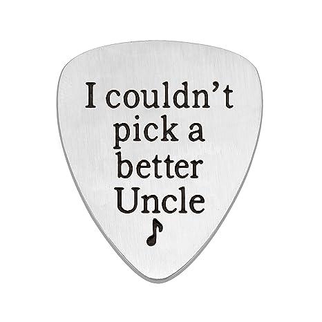 Colgante de acero inoxidable para guitarra de tío con texto en ...