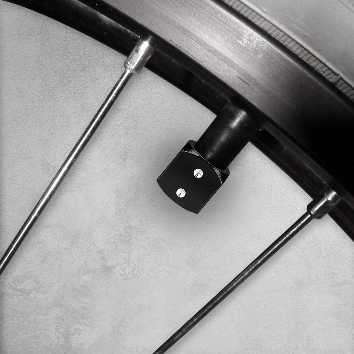 Bike Set of 5 Tire Stem Car Wheel Dustproof Cap Metal Tire Valve Dust Caps for Car kwmobile 5X Valve Cap Motorcycle