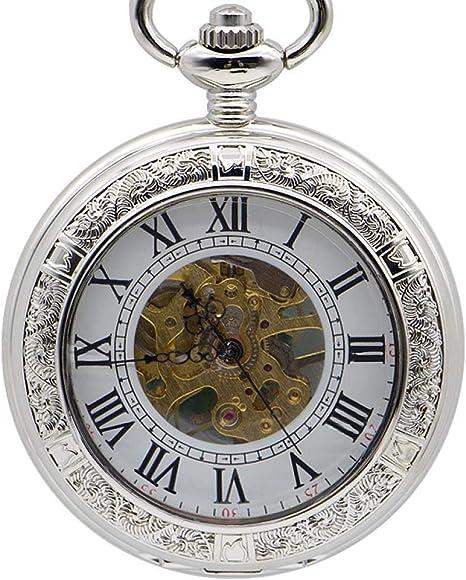 Reloj de pulsera con bolsillo de cuerda a mano mecánico