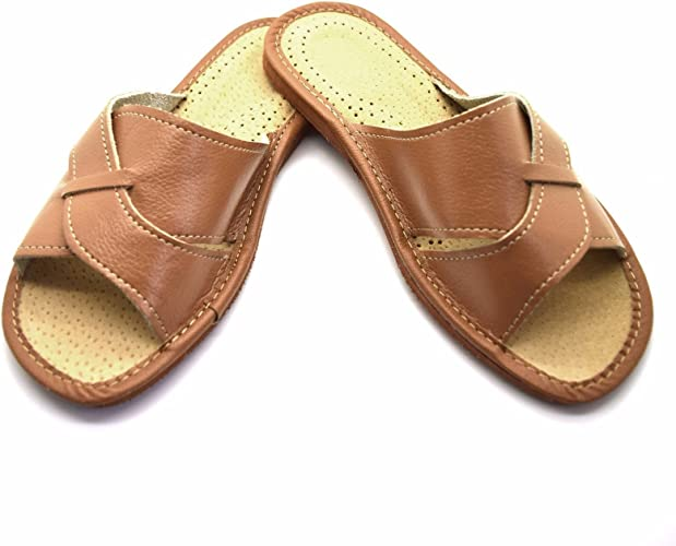 womens ladies 100/% leather slippers mules clogs all sizes very comfortable