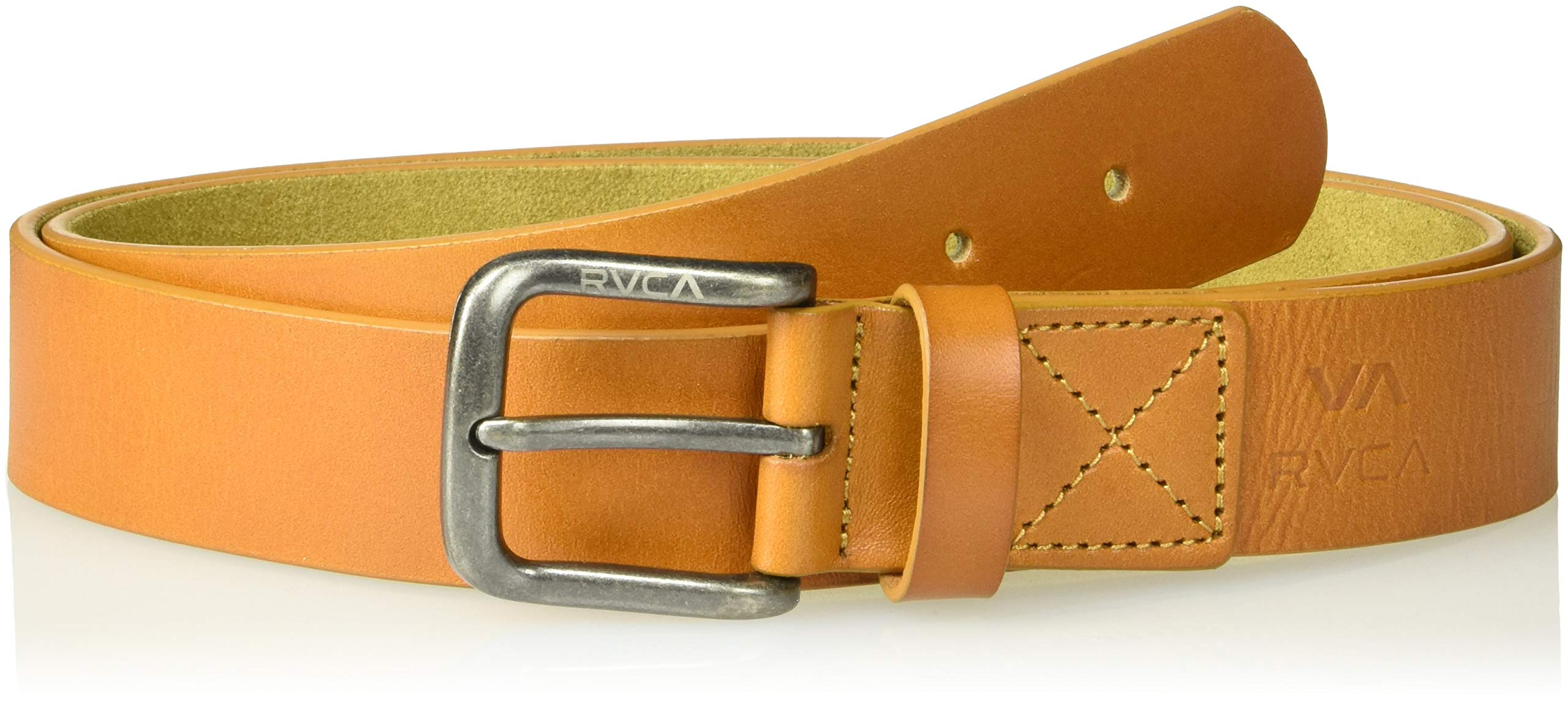 RVCA Men's TRUCE Leather Belt, tan, S/M