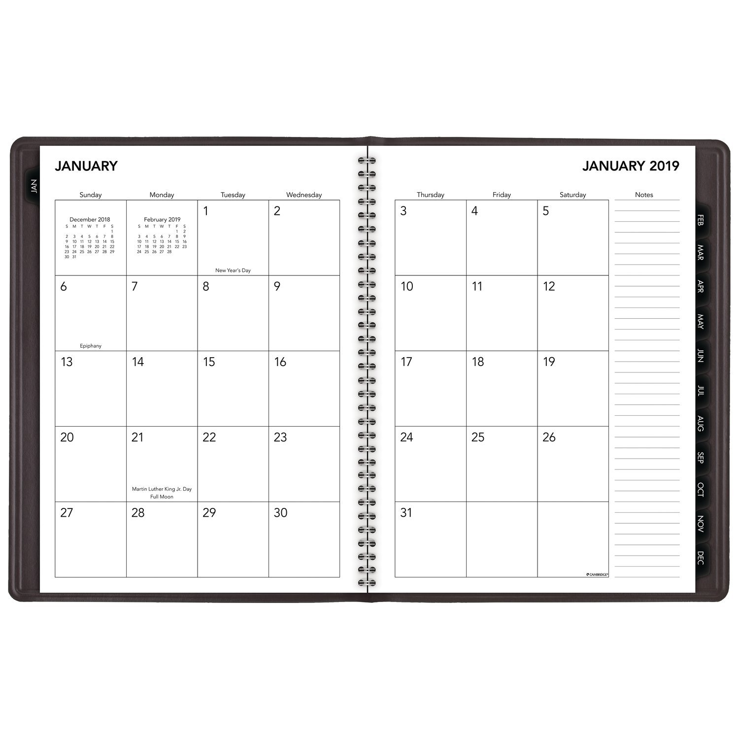 Cambridge 2019 Business Weekly & Monthly Appointment Book / Planner, 8'' x 11'', Large, Silver(CRW60230) by Cambridge (Image #3)