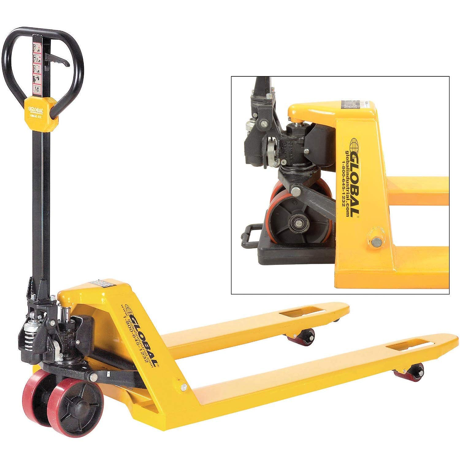 Pallet Jack Truck, 5500 Lb. Capacity, 21 x 36 & Pallet Chock Combo
