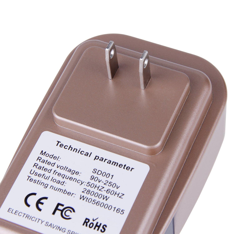 Electricity Saving Box Power Energy Saver By Amebay, Energy Power Saver 28KW AC90-250v Gold Up to 20%-35%(US Plug) by Amebay (Image #6)