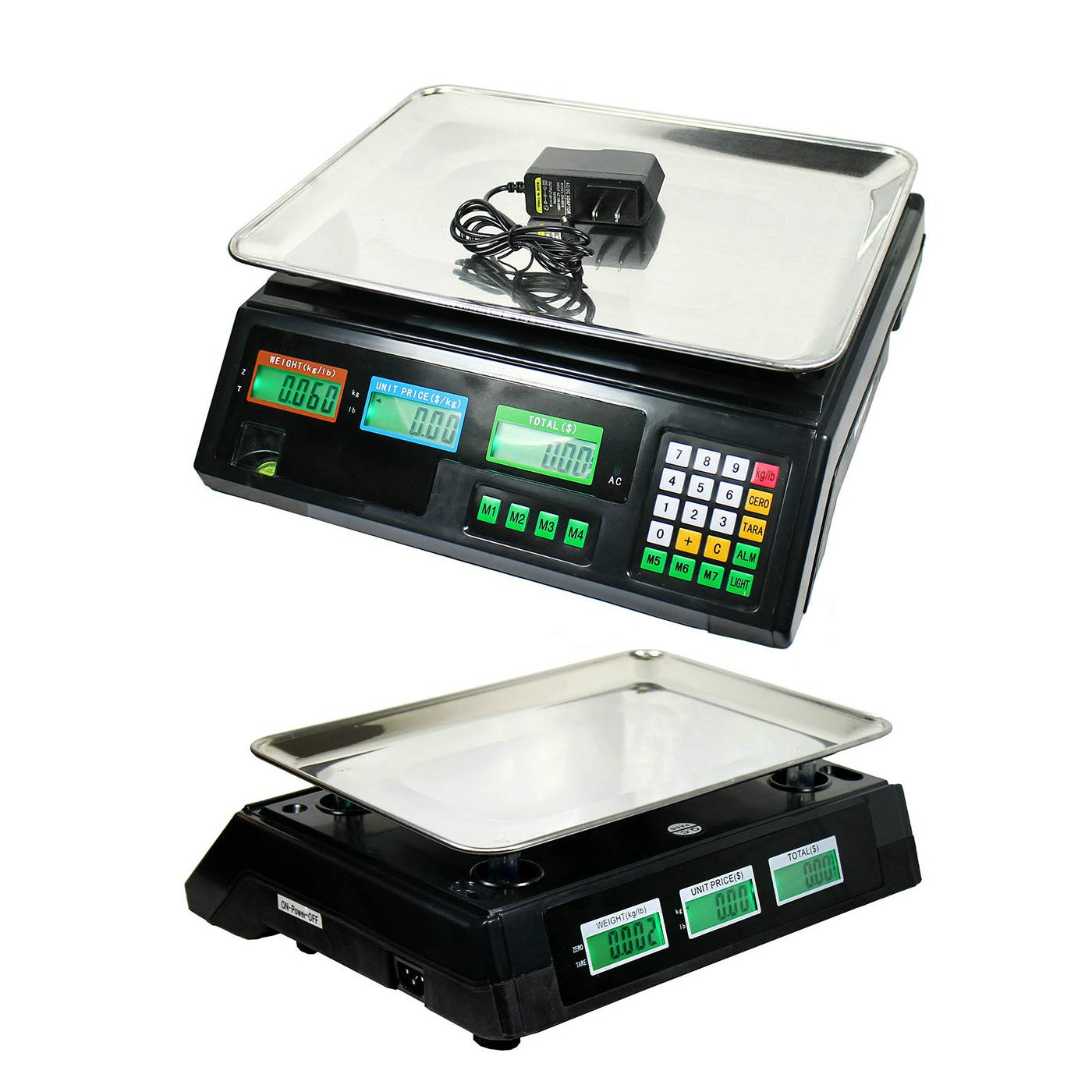 40kg/88lbs Food Deli Scale | Food Meat Price Computing Digital Display Weight Scale Electronic Counter Supermarket Retail Outlet Store