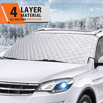 MATCC Protector para Parabrisas Cubierta de Parabrisa Coche Proteger el Parabrisas y limpiaparabrisas de Hielo Nieve Lluvia