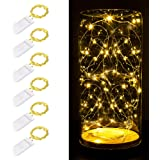 Fairy String Lights , 6 Pack 7ft 20 led Starry Light CR2032 Battery Included , Battery Operated Decorative Twinkle…
