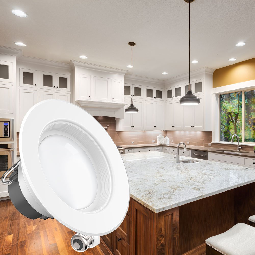 Sunco Lighting 6 Pack 4 Inch Baffle Recessed Retrofit Kit Dimmable LED Light, 11W (40W Replacement), 3000K Kelvin Warm White, Quick/Easy Can Install, 660 Lumen, Wet Rated by Sunco Lighting (Image #9)