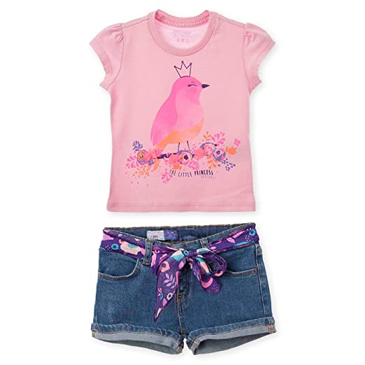 OFFCORSS Spring Summer Cute Twin Sister Matching Outfit Set for Toddler Girl Baby Photography Photoshoot Short