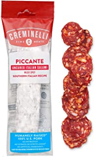 product image for Creminelli Piccante Salami - Humanely-Raised U.S. Pork, Keto & Paleo Friendly, High Protien - Sugar Free, Gluten Free (Piccante, 5.5 Ounce (Pack of 1))