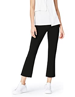 FIND Women's Flare Trousers in Crop Cut with Side Zip