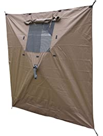 Clam 9897 Wind Panels with Windows, 2 Pack, Brown