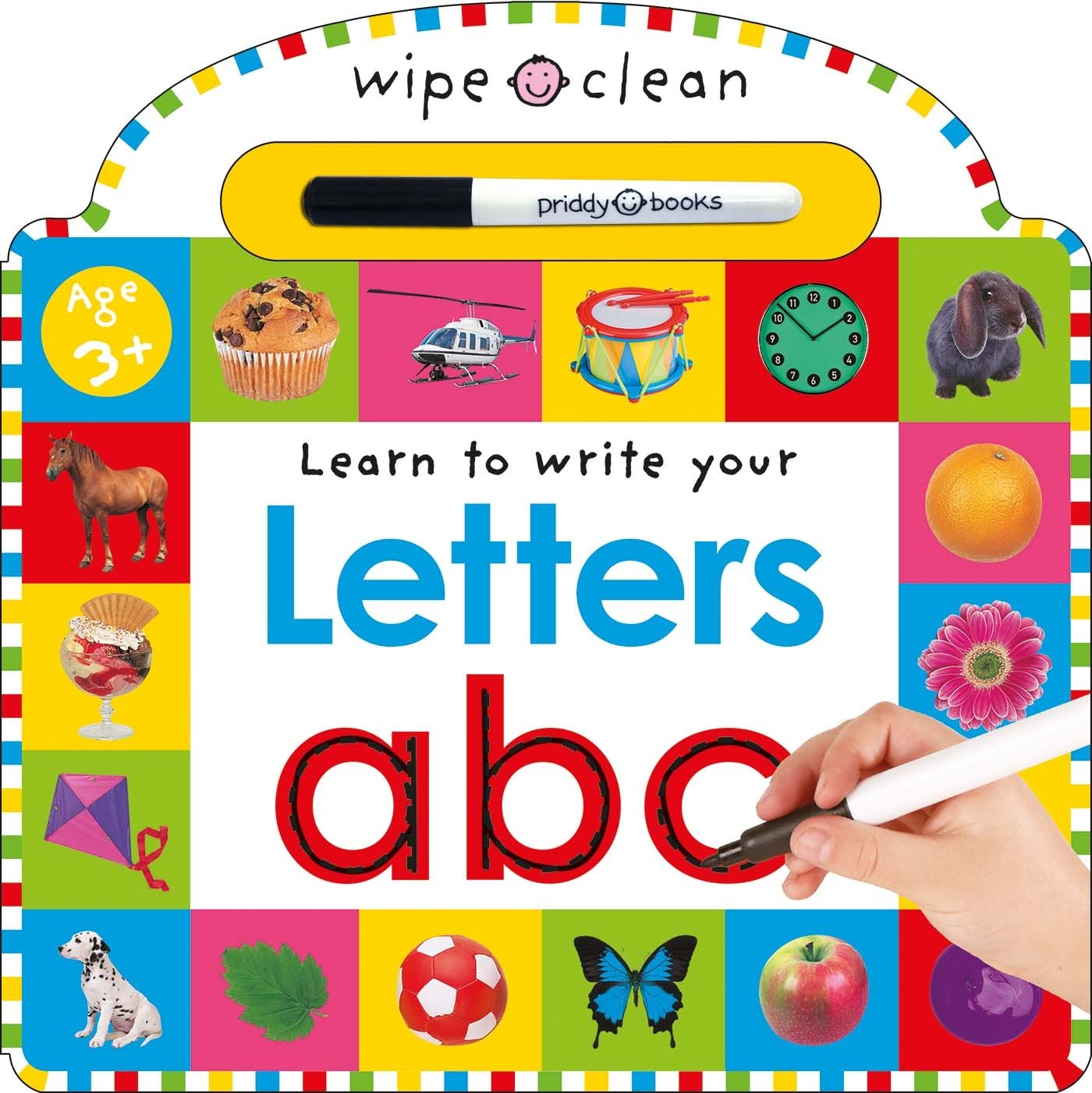 Worksheet Learn Your Alphabet amazon com wipe clean letters learning books 9780312492519 roger priddy books