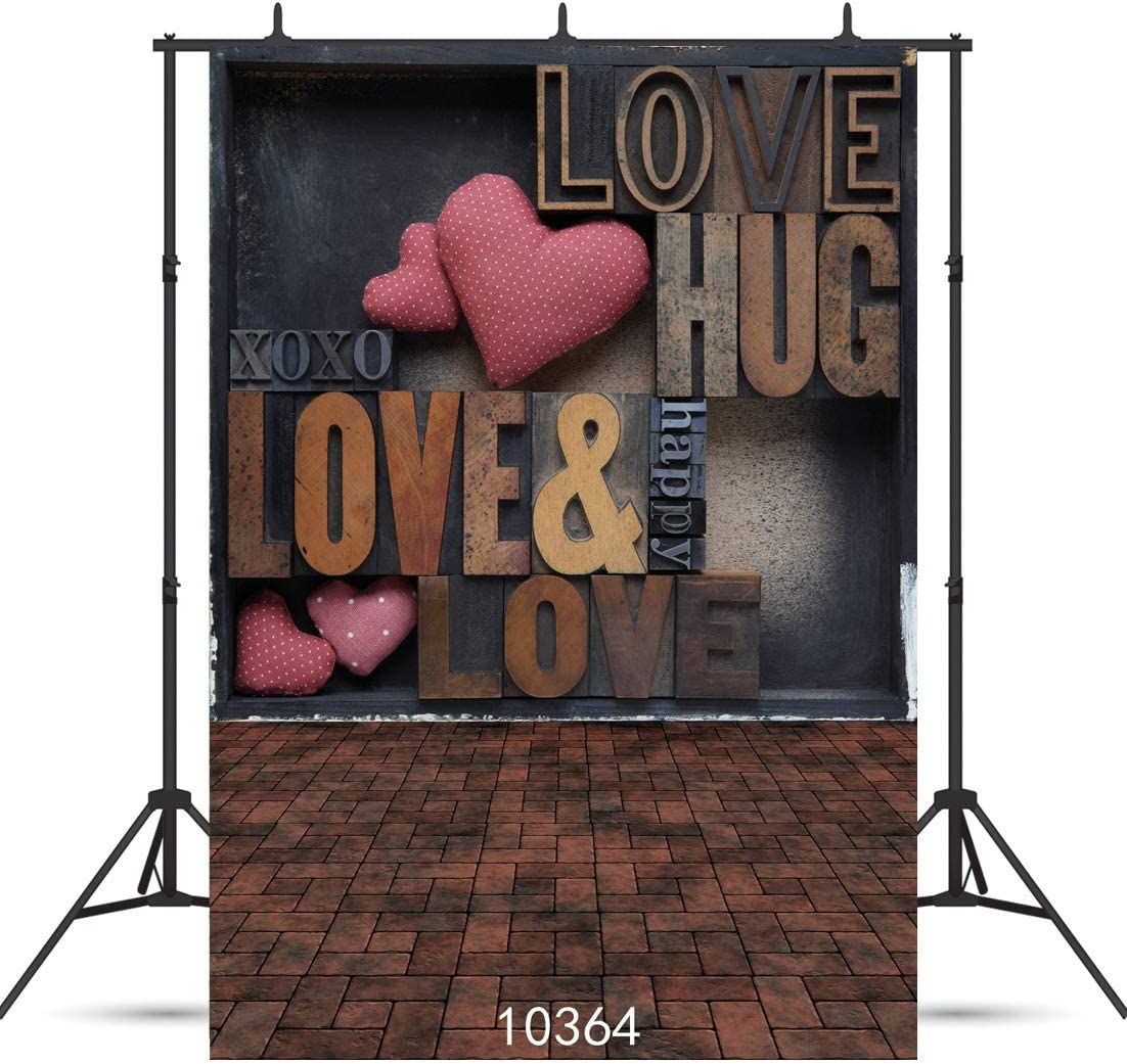 5x5FT Vinyl Photography Backdrop,Western,Heart Figure Coiled Rope Photo Background for Photo Booth Studio Props