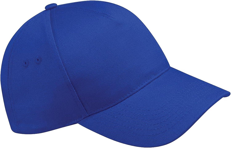 Gorra de béisbol Beechfield B15, 5 paneles Azul Brillante Real ...