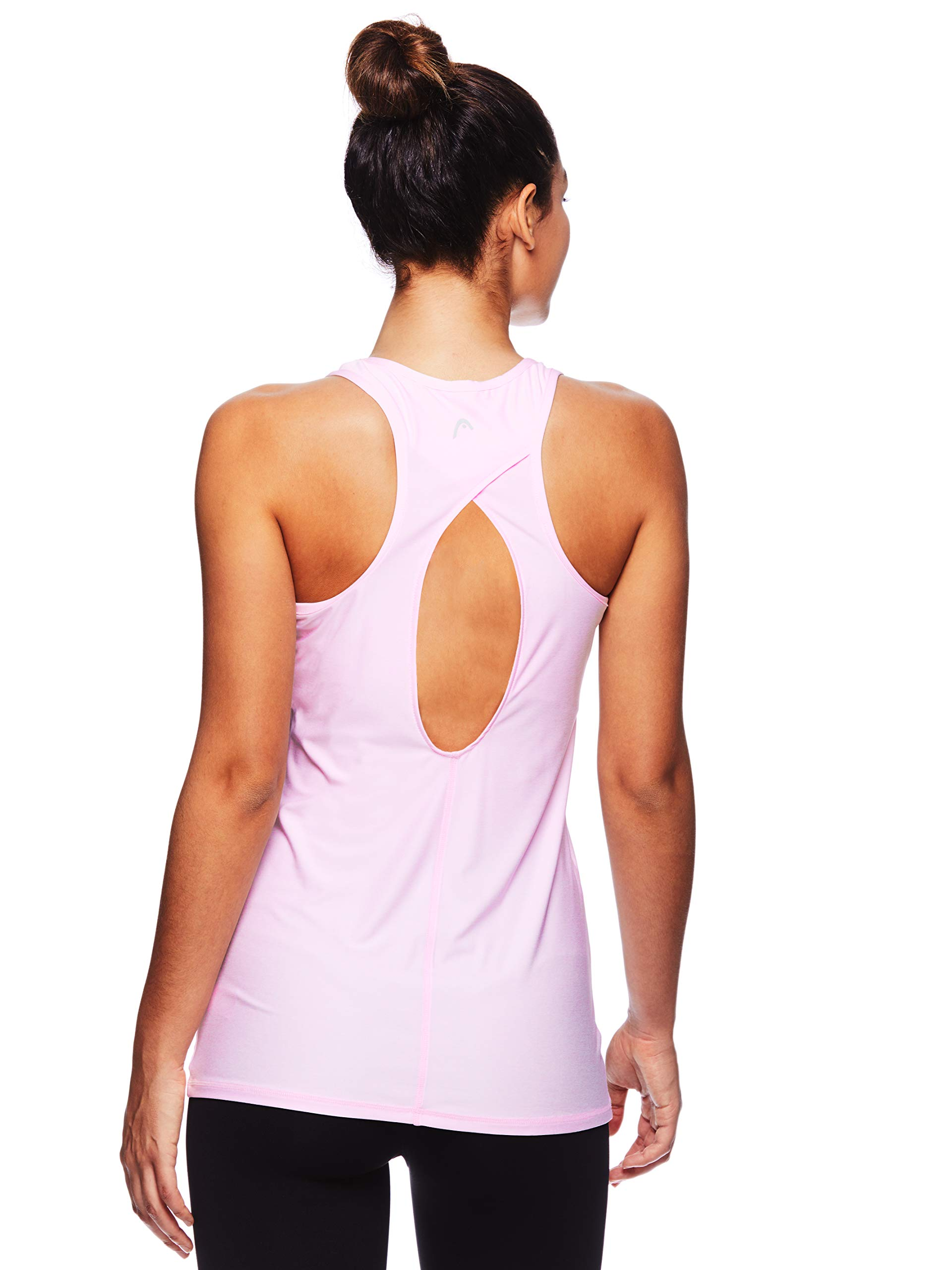 HEAD Women's Match Up Racerback Tank Top - Sleeveless Flowy Performance Activewear Shirt - Cherry Blossom Heather Match Up Tank, X-Small