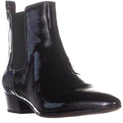 04458975632 Franco Sarto Archie 2 Ankle Boots, Black Patent